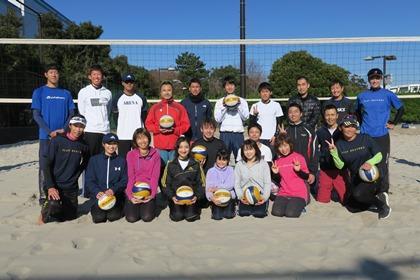 写真:参加者、コーチ全員で集合写真