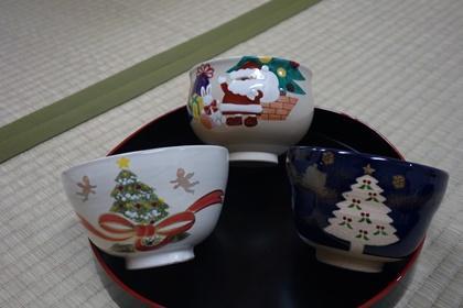 写真/クリスマス仕様の茶器