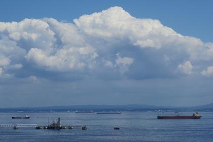 写真:今年初の入道雲