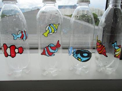 写真:ボトルアート作品
