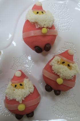 写真:サンタクロースの和菓子